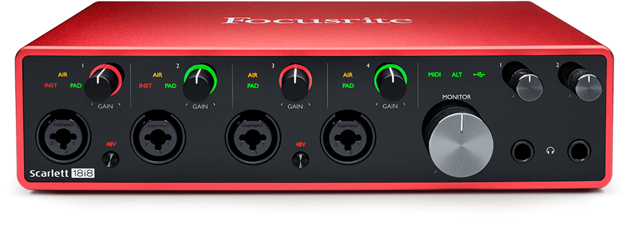 interfaces midi - Interface audio Scarlett 18i8 3Gen
