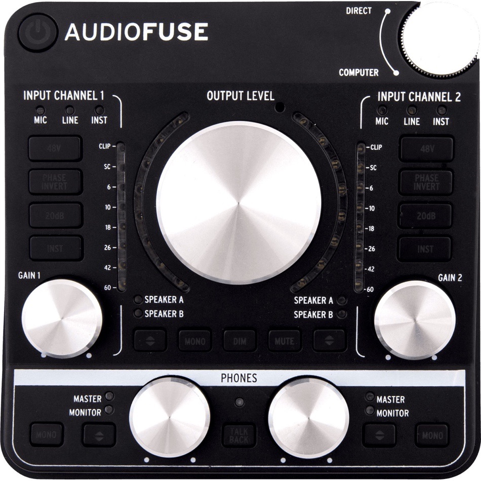 interfaces midi - Interface Áudio Audiofuse Deep Black