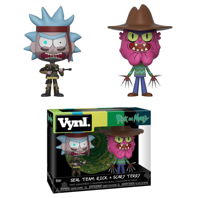 Funko Vynl Rick & Morty 4´ 2-Pack Seal Team Rick + Scary Terry